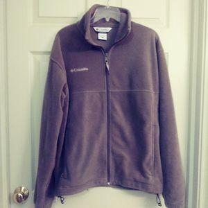 Columbia fleece jacket. Olive green